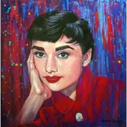 Audrey Hepburn: Acrílico...